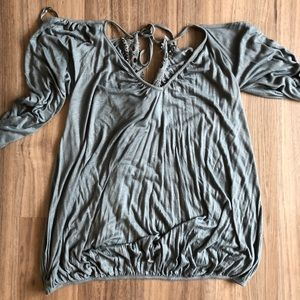 NWT free people cold shoulder top